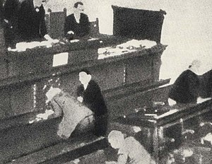 Sekula Drljević - Drljević attempted to dissuade Stjepan Radić from attending a session of the Yugoslav parliament prior to his assassination there in 1928 (pictured).