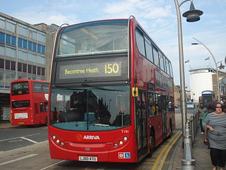 Arriva London - Alexander Dennis Enviro400 on route 150 near Ilford station