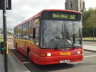 Marshall Bus - First Beeline Marshall Capital bodied Dennis Dart in Slough in 2013