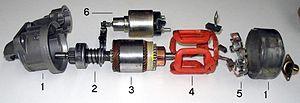 Starter solenoid - Image: Automobile starter 2