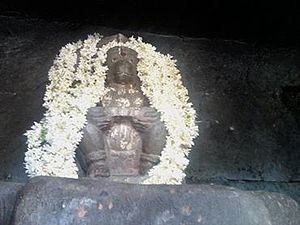 Nava Brindavana - Powerful Avathaarathraya Hanuman at Navabrindhavan