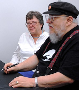 Lisa Tuttle - Tuttle with George R. R. Martin, 2012