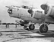 Avro Lincoln of 1 SQN RAAF at RAF Tengah in 1950