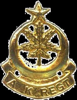 Azad Kashmir Regiment Pakistan army infantry regiment
