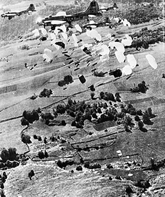 USAAF B-17 Flying Fortresses dropping supplies to the Maquis du Vercors in 1944. B17-dropping-supplies-for-resistance.jpg