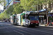 B2 2130 in Swanston St on route 1 30-9-2013.jpg