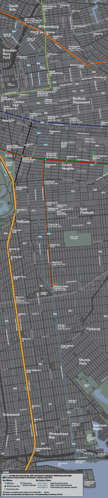 Select bus service wikipedia a map showing the b44 sbs in light blue with rail connections sciox Images