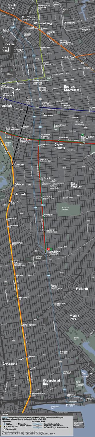 Nostrand Avenue Line (surface) - Image: B44 Select Bus Service