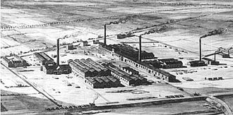 Chemical industry - The factories of the German firm BASF, in 1866.