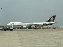 Sân bay quốc tế Kempegowda-Các hãng hàng không và các tuyến điểm-BIAL Singapore Airlines cargo B 747