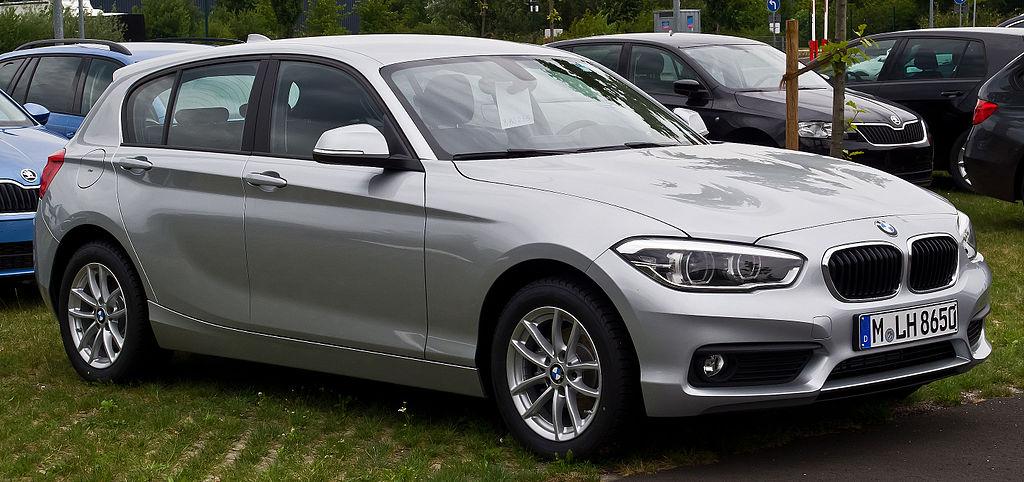 BMW 116i (F20, Facelift) – Frontansicht, 26. Juli 2015, Düsseldorf