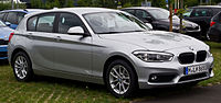 BMW 116i (F20, Facelift) – Frontansicht, 26. Juli 2015, Düsseldorf.jpg
