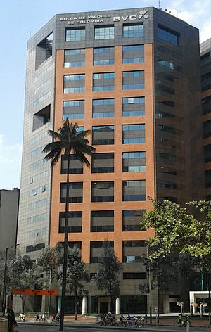The Colombian Stock Exchange is part of the Latin American Integrated Market (MILA). BVC Bogota.jpg