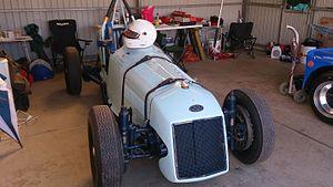 1953 Australian Grand Prix - The 12th placed BWA of Alf Barrett and Julian Barrett, pictured in 2015