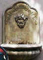Bacchus vieux ornant une fontaine provençale dans le Var.JPG