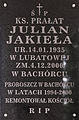 Bachórzec, kościół nowy, tablica Julian Jakieła.jpg