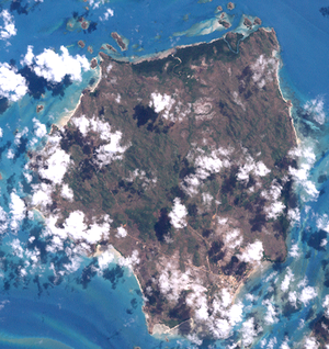 Badu Island - A satellite image of Badu Island