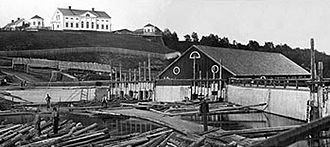 Ume River - The sawmill on the north bank