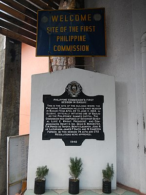 Philippine Commission - Marker, Session Road