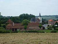 Bailleul-lès-Pernes (Pas-de-Calais, Fr) vue du village et son église PA00108188.JPG
