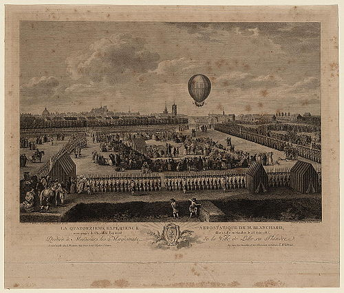 Balloon ascensions--France--Lille 1785