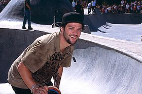 Bam Margera under en skateboard-tävling