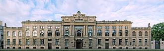 National Bank of Poland - Image: Bank Państwa, elewacja frontowa, Kościuszki 14, Łódź