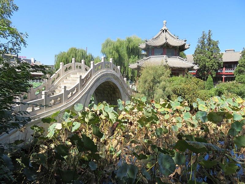 File:Baoding Ancient Lotus Pond bridge.jpg