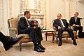 Barack Obama & Vladimir Putin at Putin's dacha 2009-07-07.jpg