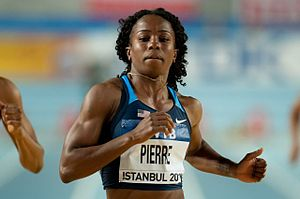 Barbara Pierre - Pierre at the 2012 World Indoor Championships in Istanbul.