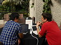 Barbican Conservatory at 4-15pm on day 2 of the Wikimania 2014 hackathon 05.jpg