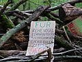 Barrier with protest-signs in the Hambach forest 07.jpg