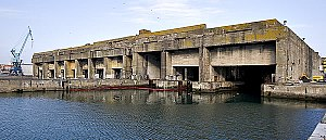 Allied siege of La Rochelle - U-boat bunker at the harbor of La Rochelle.