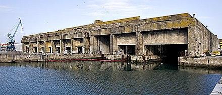 Base per U-Boot nel porto di La Rochelle (La Pallice)