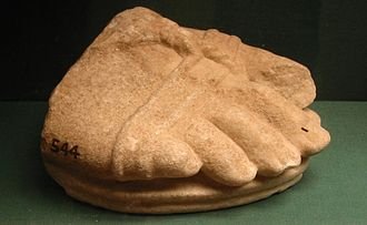 Bassae - Foot fragment of a colossal statue at Bassae, displayed at the British Museum