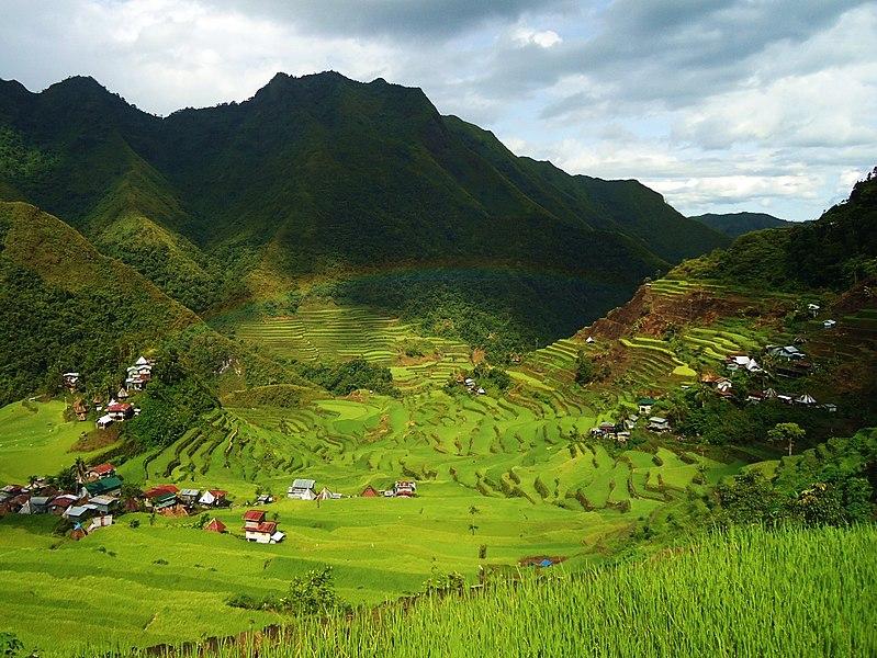 Terrazas de arroz en Batad (Filipinas) tras la lluvia