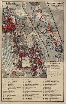 1897 Batvia mapa