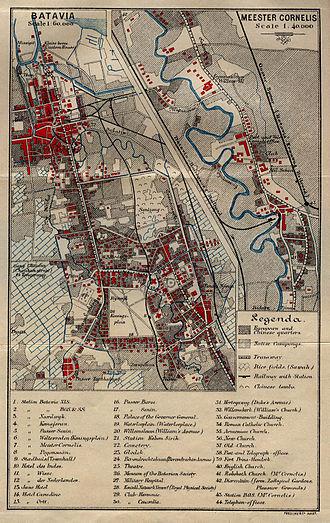 History of Jakarta - Map of Batavia in 1897