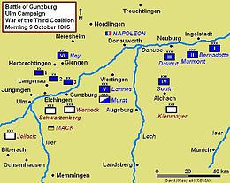 Description de l'image Battle of Gunzburg 1805 Campaign Map.JPG.