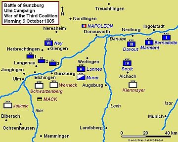 Battle of Günzburg, October 9, 1805