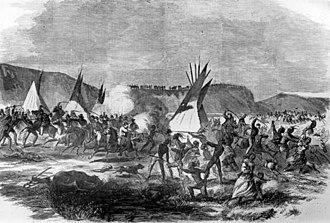 2nd Nebraska Cavalry -  Battle of Whitestone Hill, 3 Sept 1863