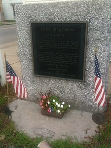 Battle of Wyoming Marker