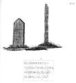 Bautasteinene på Skei i Sparbu og marmorplate i Mære kirke (1823) (9521455163).jpg