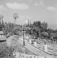 Beeldhouwwerken in de perzische tuin van de Bahai Temple (Bahá'í Huis van Aanbid, Bestanddeelnr 255-2102.jpg