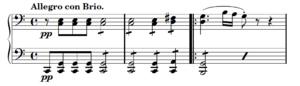 Piano Sonata No. 21 (Beethoven) - The opening, driving motive