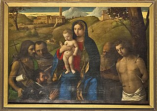 Madonna and Child with Four Saints and Donor