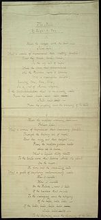The Bells (poem) heavily onomatopoeic poem by Edgar Allan Poe