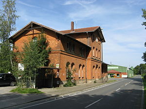 Belm - Image: Belm alter vehrter Bahnhof
