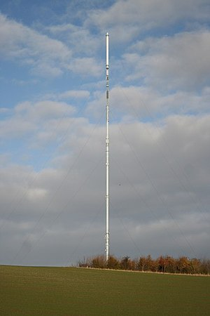 Belmont transmitting station - Then the tallest structure in the UK, seen in November 2007