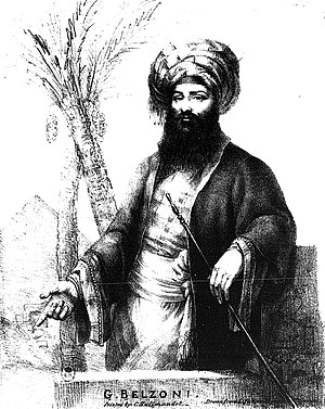 Giovanni Battista Belzoni from his publication...
